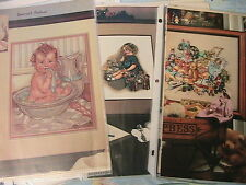 VINTAGE BABY & CHILDREN CROSS STITCH GRAPHS LOT OF 21 from magazines & books