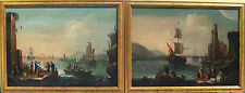 Antique  Pair of  Original Italian Oil Paintings 18 century