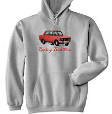 POLISH FIAT 125P RED INSPIRED RACING - GREY HOODIE - ALL SIZES IN STOCK