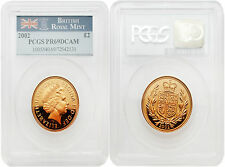 Great Britain 2002 2 Sovereign with Seal Reverse Gold PCGS PR69 DCAM