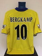 Arsenal FC BERGKAMP 03/04 Away Football Shirt (XL) Soccer Jersey
