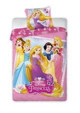 Set Letto PRINCIPESSE DISNEY Rapunzel ETC 140x200cm COPRIPIUMINO Cotone BED SET