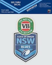 NEW SOUTH WALES BLUES STATE OF ORIGIN SEE THRU CAR STICKER DECAL NRL SOO NSW