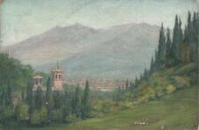 FIRENZE FLORENCE LANDSCAPE ITALY Oil Painting CAPT ROBERT RANSHAW 1908