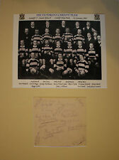 CARDIFF 1907 RUGBY TEAM THAT BEAT SPRINGBOKS 17-0 - MOUNTED, SIGNED PRESENTATION