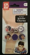 ONE DIRECTION 1D SET OF 5 BRACELET CHARMS ZAYN BRAND NEW UN-OPENED