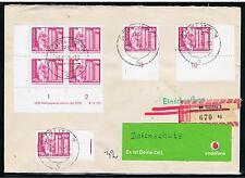 Brief DDR MiNr. 1869v Viererblock Ecke DV + ZuF gestempelt gelaufen !