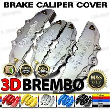 3D Universal Style Brake Caliper Cover front and rear 4 pcs Silver WL04