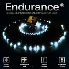 POWERBEE ENDURANCE ® SOLAR FAIRY LIGHTS 100 SUPERBRIGHT LED OUTDOOR XMAS GARDEN