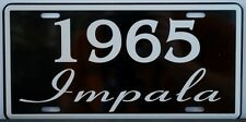 1965 65 IMPALA LICENSE PLATE 396 409 CONVERTIBLE CHEVY CHEVROLET SS SUPER SPORT