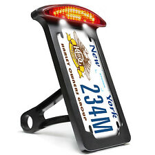 Custom Side Mount License Plate Bracket Tail Light Frame For Harley Sportster XL
