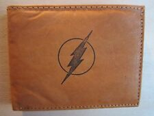 """Mankind Wallets-Men's Tan Leather Billfold with FREE """"The Flash"""" Image"""