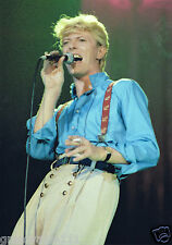DAVID BOWIE PHOTO COLOR 1983 HUGE UNIQUE UNRELEASED IMAGE 12 INCH RARE CLOSEUP