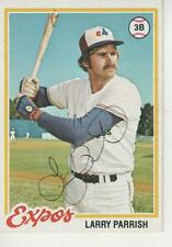 LARRY PARRISH SIGNED 1978 TOPPS #294 - MONTREAL EXPOS