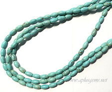 4x6mm Stablized Blue Turquoise Oval Rice Beads -DIY Jewelry