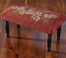 Pine Cone Hooked Bench - Lodge - Pines - Bear Claws - Park Designs - Free Ship