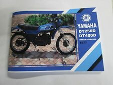 Yamaha DT250 DT400   owners manual 1977