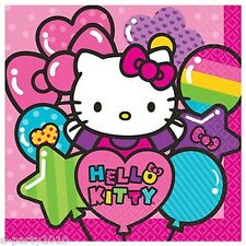 HELLO KITTY Rainbow LUNCH NAPKINS (16) ~ Birthday Party Supplies Dinner Large