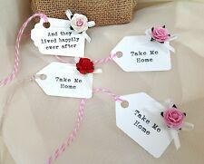 6 Vintage Wedding Party Personalised Place Cards/Favour Tags