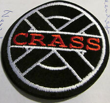 CRASS COLLECTABLE RARE VINTAGE PATCH EMBROIDED 90'S METAL LIVE