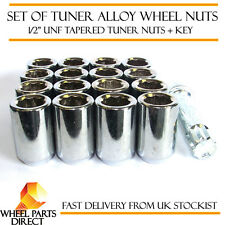 "Set of 16 1/2"" UNF Half Inch Tuner Drive Sparco SD Alloy Wheel Nuts Bolts + Key"