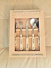Pfaltzgraff Tea Rose Stainless Flatware 20-Piece Service for 4 Super Rare
