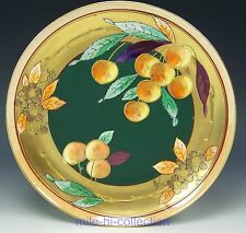 PICKARD STUDIO LIMOGES HANDPAINTED YELLOW CHERRIES AND MATTE GREEN CABINET PLATE