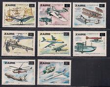 Congo-Zaire**HISTORIC AVIATION-OVERPRINT/SURCHARGE SABENA-DA VINCI-CONCORDE-8val