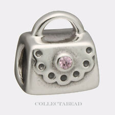 Authentic Pandora Sterling Silver Pink CZ Purse Bead 790309PCZ *RETIRED*