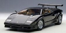 1/18 AUTOART Lamborghini Countach 25th Anniversary Black +kostenlose1/18 Vitrine