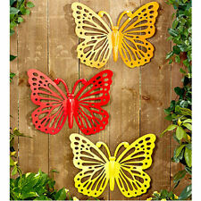 Patio Decorating Ideas Sunroom Decor Hanging Outdoor Wall Art Metal Butterfly