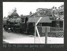 OLD PHOTO RAILWAY ENGINE AT JOHORE BAHRU STATION SINGAPORE MALAYA 1954  (523)