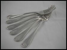CHRISTOFLE MALMAISON EMPIRE 6 FISH FORKS SILVER PLATED FRANCE 1900 PATERN