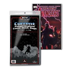 (200) BCW Current Clear Comic Book Bags / Sleeves