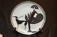 """1993 House Of Erte """"Symphony In Black"""" Collector Plate - Franklin Mint"""