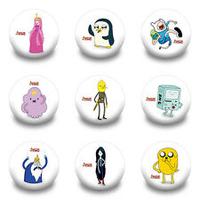 Hot 18pcs Adventure Time  PVC badges Pin broochse clothes decoration Kid Gift