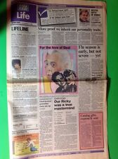 Desi Arnaz Death Lucille  Ball USA TODAY LIFE Section December 3, 1986 LOVE LUCY
