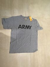 US ARMY PT SHIRT, POLY/COTTON, NEW OLD STOCK, MEDIUM