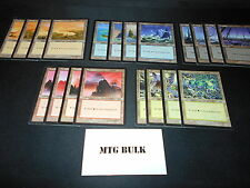 20x Basic Land*1 of each art*Urza's Saga*Magic the Gathering MTG**FTG