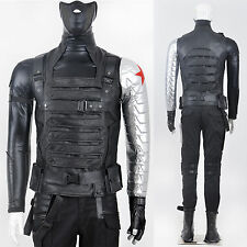 Captain America Winter Soldier Costume Bucky Barnes Cosplay Costumes Outfit NEW