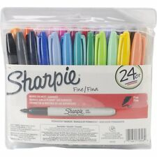 Sharpie 75846 Fine Point Permanent Marker, Assorted Colors, 24-Pack, New