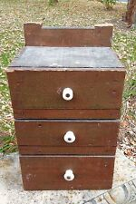 PRIMITIVE DRAWER CABINET EXPLOSIVE BOX HANDMADE