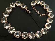 NWT J Crew 100%Authentic Classic Clear Crystal Statement Necklace  SOLD OUT