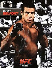 "VITOR BELFORT-""UFC Star""-Authentic Autographed ""RARE"" Promo"