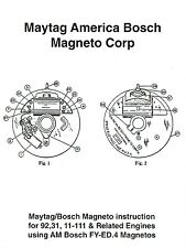 Maytag America Bosch Magneto Instruction Book Gas Engine Hit Miss 92 31 Motor