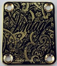 Gold Vintage Engraved Guitar Neck Plate  fits Fender tele/strat/squier