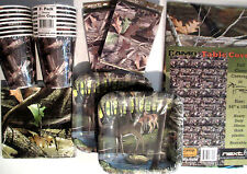 HUNTING CAMO DEER Birthday Party Pack Supply DELUXE Kit w/ Invites & Reusable TC