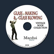 Glass Making,Glass Blowing & Glass Painting 77 Vintage e-Books Collection on DVD