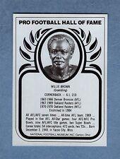 WILLIE BROWN, Raiders-Broncos NFL 1982 Pro Football Hall of Fame HOF METAL