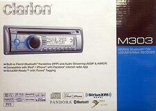 NEW Clarion M303 In-Dash CD/USB/MP3 Marine Audio Receiver w/ Bluetooth